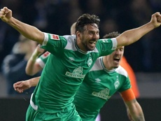 Pizarro sets a new Bundesliga record, scoring aged 40 years and 136 days. GOAL