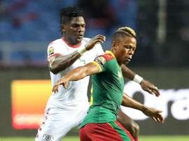Clinton NJie chasing the ball. Goal