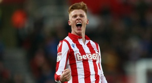 Sam Clucas netted for Stoke in the 2-0 win over his old club Swansea. GOAL