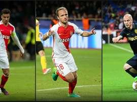 Les trois mousquetaires de Monaco, Dirar, Germain, Raggi. Goal