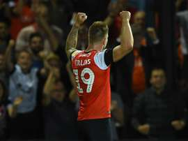 Collins got Luton Town a point on their Championship return. GOAL
