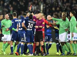 A moment of the red card. Goal