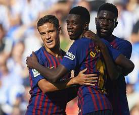 Valverde says Barcelona do not have to choose between Coutinho and Dembele. GOAL