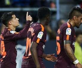 Coutinho brilhou pelo Barça, em Málaga. GOAL