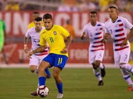 Coutinho USA Brazil Friendly. Goal