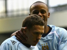 Craig Bellamy joins up with Vincent Kompany again at Anderlecht. GOAL