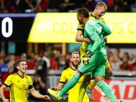 Columbus Crew and Houston Dynamo advanced to the conference semi-finals. GOAL