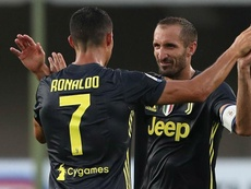 Cristiano Ronaldo and Giorgio Chiellini together at Juve. GOAL