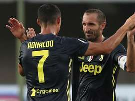Cristiano Ronaldo and Giorgio Chiellini together at Juve. GOAL