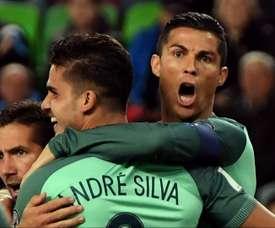 André Silva e o lado bom e ruim de jogar com CR7. Goal