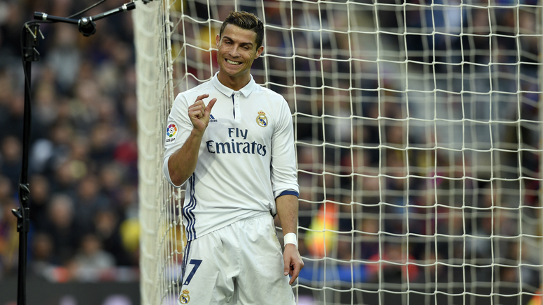 Cristiano Ronaldo in a match for Real Madrid. Goal