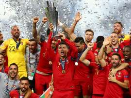 Ronaldo was delighted to win a trophy on home soil. GOAL