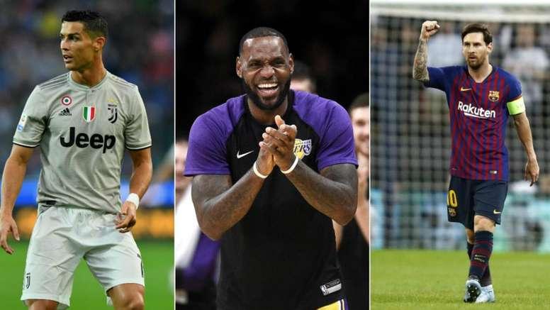 Cristiano, LeBron, Messi. Goal