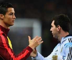 Os dois 'extraterrestres': Cristiano Ronaldo e Messi. Goal