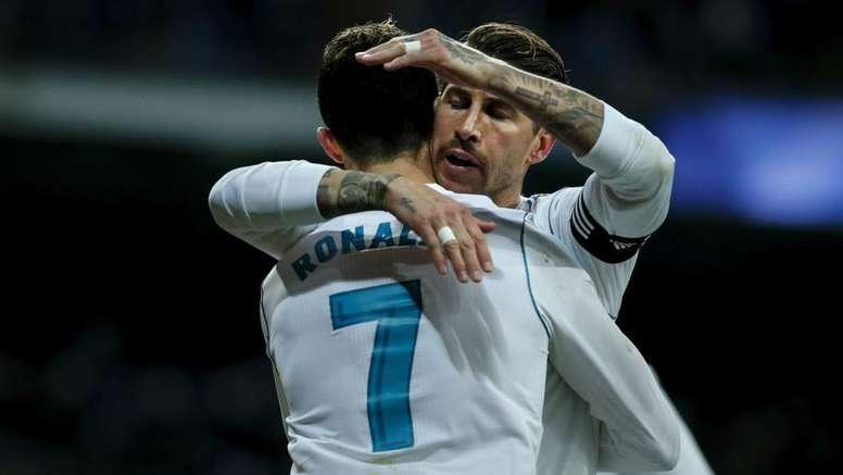 Ramos saluta Cristiano