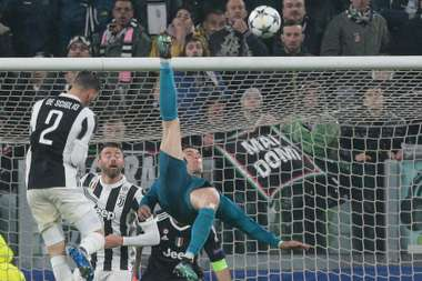 The Juventus fans stood and applauded the goal. GOAL