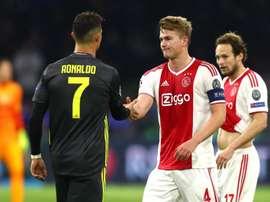 Cristiano Ronaldo and Matthijs de Ligt. GOAL