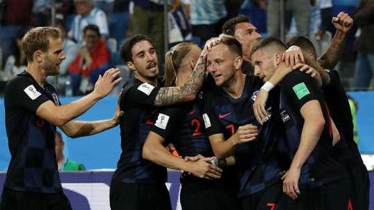 Croatia are top. GOAL