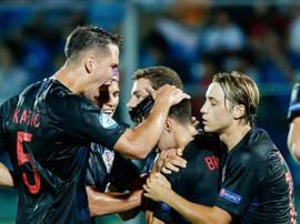 Brekalo scored two equalising goals for Croatia. GOAL