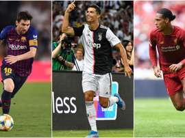 Van Dijk joins Messi and Ronaldo on three-man UEFA award shortlist