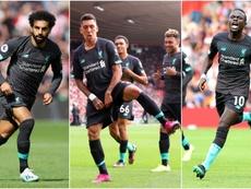 Liverpool boss Klopp thanks 'God' for Mane, Salah and Firmino. Goal
