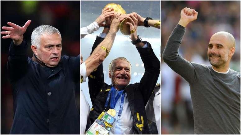 Jose Mourinho, Didier Deschamps and Pep Guardiola. GOAL