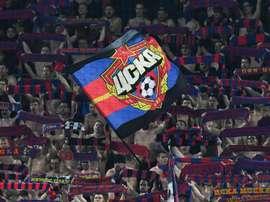 CSKA Moscow fans. Goal
