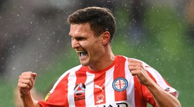 Curtis Good scored the first goal for Melbourne City in their 3-1 win over Central Coast. GOAL