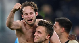 Blind was delighted to get through to the semis. GOAL