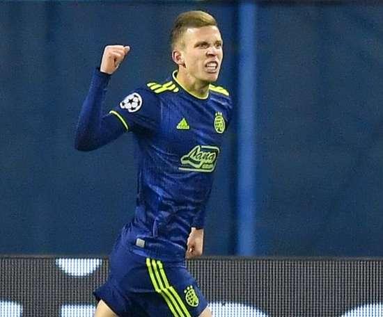 Dani Olmo vicino al Lipsia. Goal