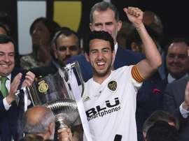 Dani Parejo with the Copa del Rey. GOAL