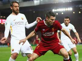 De Rossi was frustrated at the way his side let Liverpool get at them. GOAL