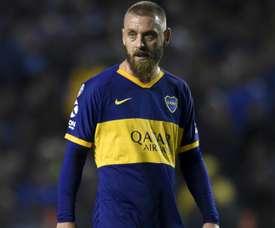 De Rossi celebrates winning league bow for Boca Juniors