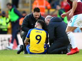 The striker picked up a hamstring injury against Burnley. GOAL