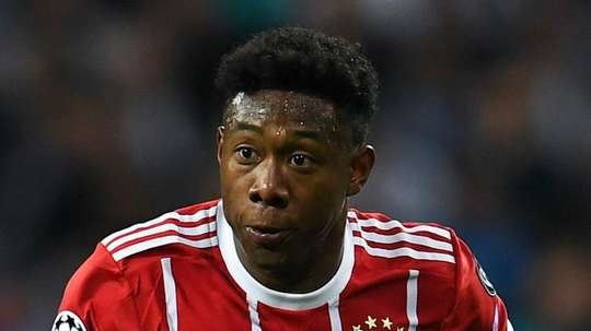 Alaba went down in pain. GOAL