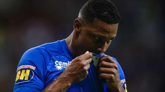 Reforço mais caro do ano, David comemora primeiro gol pelo Cruzeiro