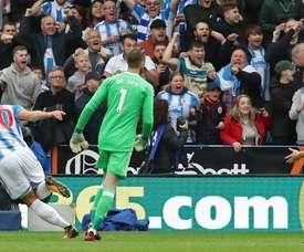 David De Gea et Victor Lindelof, Manchester United-Huddersfield Town. GOAL