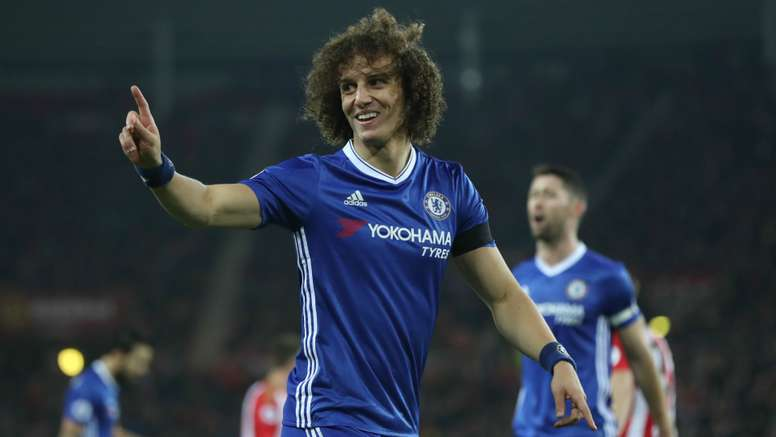 David Luiz in action for Chelsea against Southampton. Goal