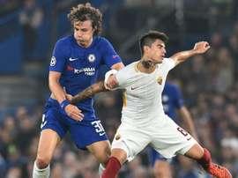 David Luiz apontou o 1º gol da partida. Goal