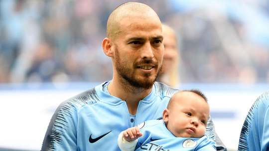 Manchester City celebrated their win over Huddersfield Town with David Silva's son. Goal