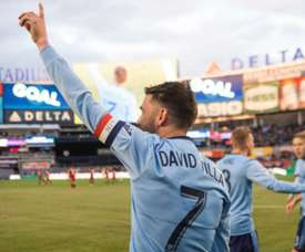 Villa popped up with a brace for New York. GOAL