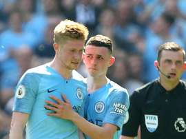 De Bruyne won't get to help out for Derby. GOAL