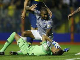 Dede was sent off for a clash of heads at Boca. GOAL
