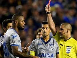 Dede Eber Aquino vermelho Boca Cruzeiro Libertadores. Goal