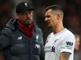 Klopp hoping Lovren injury is just cramp. AFP