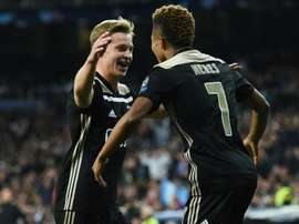 De Jong was impressive as Ajax swept to a 4-1 victory over Real Madrid. GOAL