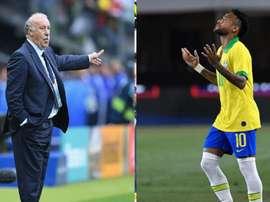 Del Bosque cutuca Neymar. Goal