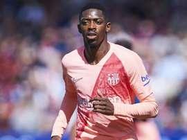 Ousmane Dembele for Barcelona. GOAL