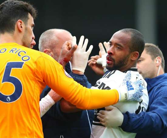 Defender Odoi suffered a nasty looking head injury in Fulham's win against Cardiff. GOAL