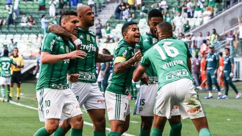 Futebolistas do 'Verdão' contentes com o triunfo sobre o 'Fla'. Goal